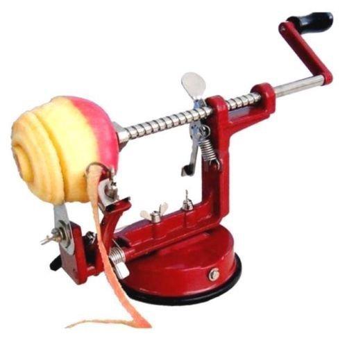 AH&R International 3 IN 1 Apple Peeler Slicer Corer Dicer Cutter Kitchen Potato Fruit Veg Machine Red
