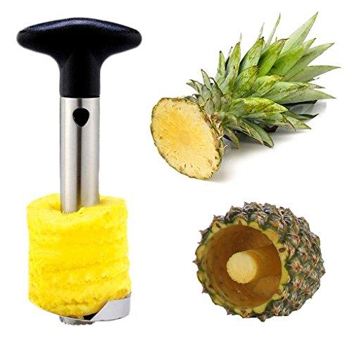 Ambox Silver Stainless Steel Pineapple Easy De-Corer Slicer Peeler Stem Remover Blades for Diced Fruit Rings