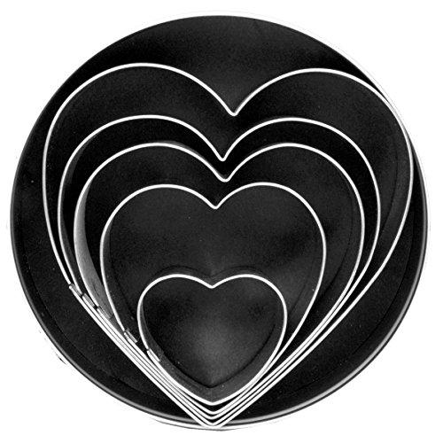 Fox Run 3680 Heart Cookie Cutter Set Stainless Steel 5-Piece