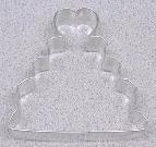 WEDDING CAKE Cookie Cutter 4 inch Metal