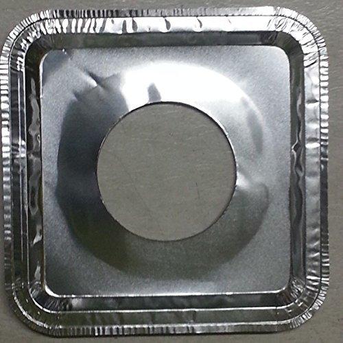 40 Pcs Aluminum Foil Square Gas Burner Disposable Bib Liners Covers