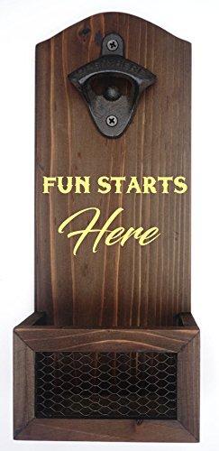 Personalized Bottle Opener  Custom Engraved Wall Mount Bottle Opener  Groomsmen Gift