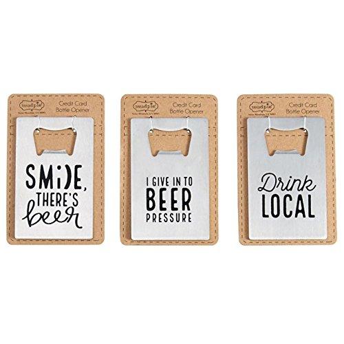Mud Pie Assorted Credit Card Metal Bottle Openers Drink Local