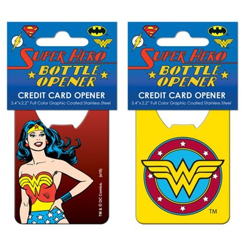 Wonder Woman Iconic Stainless Steel Super Hero Credit Card Bottle Opener