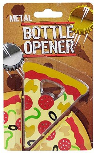 Pizza Slice Metal Bottle Opener - 3 x 35