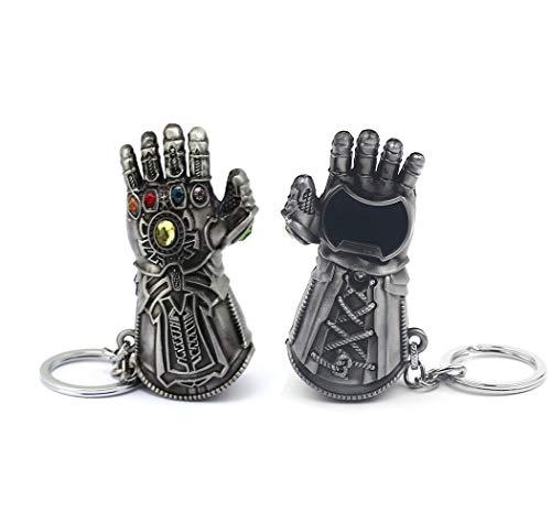 365Home Infinity Gauntlet Keychain Bottle Opener Thanos Glove Keychain Bottle Opener Thanos Beer Bottle Opener Keychain Silver