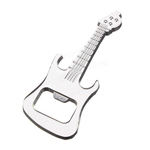 HUAJI Music Guitar Bottle Opener Beer Bottle Opener KeyringSilver