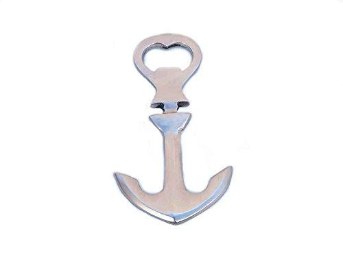 Brushed Nickel Ship Anchor Bottle Opener 5- Nautical Bottle Opener- Nautical Gifts