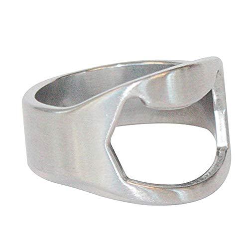 Keychain Bottle Opener for Men Fashion Cool Men Stainless Steel Finger Ring Bottle Opener Bar Pub Party Beer Tool Gift