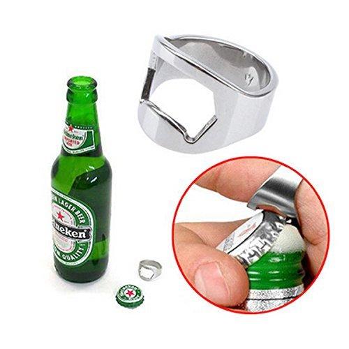 Stainless Steel Finger Ring Bottle Opener Bar Beer Tool  Dedo herramienta inoxidable botella anillo abridor bar de cerveza by Bml