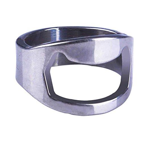 Tzichi - Finger Ring Bottle Opener - Cute Metal Finger Ring Bottle Opener Bar Beer Cap Remover - Finger Ring Bottle Opener Women Beer Stainless Steel Cocktail Shaker Ring Bead Canteen Homebrew Op