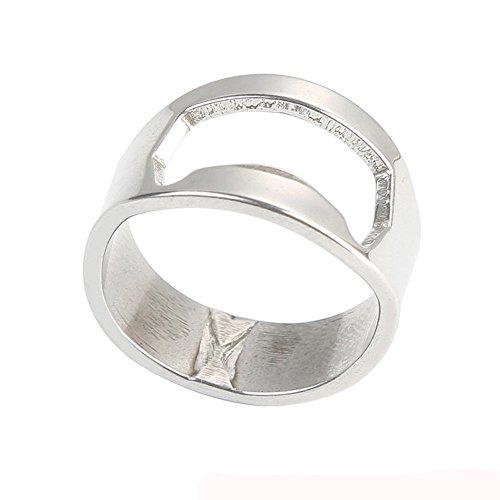 minjiSF Finger Ring Bottle Opener Stainless Steel Easy to Carry Made for Men 1PC
