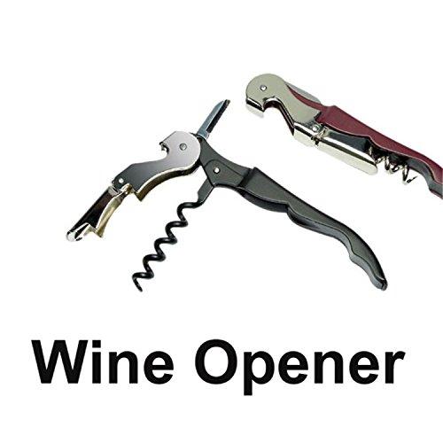 Best Annie 1Pc Stainless Plastic Wine Screw Corkscrew Opener Professional Double Hinge Waiters Wine Bottle Beer Cap Opener