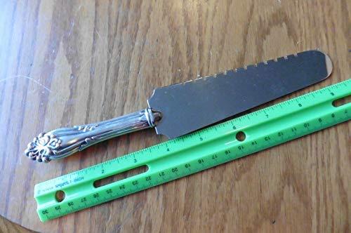 Sterling handled Cake pie server cutter knife For Vintage antique heart wedding cake