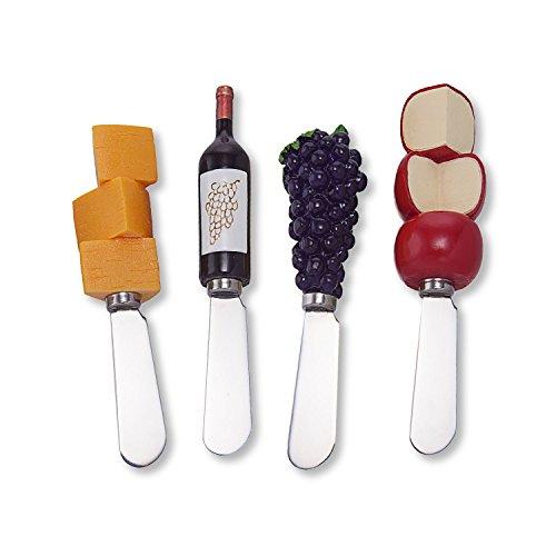 Wine Things Red Wine Tasting Resin Cheese Spreaders Set of 4