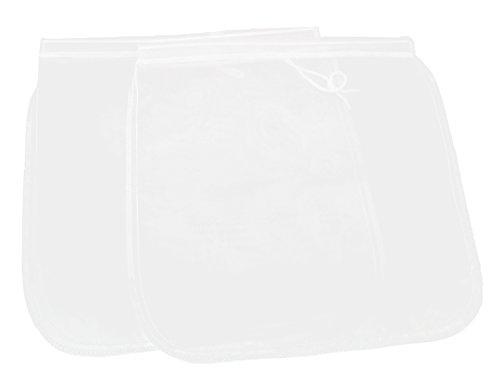 2 Pack Cheese Cloth Nut Almond Milk Strainer Fine Mesh Food Bag Filter for Cheese Making Yogurt Juice Tea Coffee 2