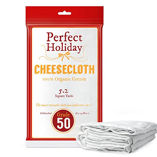 Organic Cheesecloth - Best 100 All Natural Food Grade With Unbleached Cotton - Huge Size - 468 Square Feet - 52 Square Yards - Your Perfect Holiday