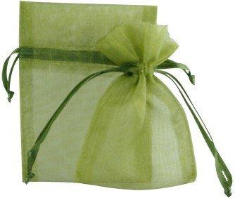 AIEDE Garden Organza Favor Bags - 4x6 - MOSS GREEN - 30 Bags