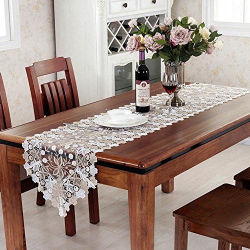 European stylesimple modern long table runner tv cabinet coffee table flag lace fabricpastoral cover clothrectangular tablecloth flag-A 40x180cm16x71inch