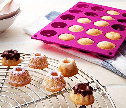 Impressive Mini 20-cavity Bundt Savarin Cake Pan Mould Silicone Mold Baking Mould