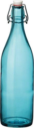 Bormioli Rocco Giara Sky Blue Glass Bottle With Stopper 33 34oz