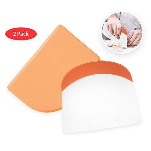 Dough Scraper  Bowl Scraper Plastic Pastry Spatula Scraper + Dough Cutter and Flexible Kitchen Scrapers Set