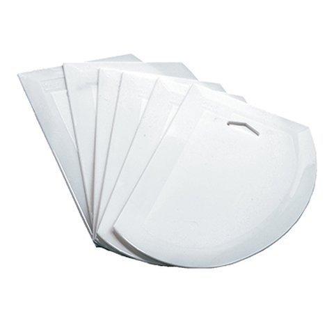 Winco PDS-7 7-12 x 4-34 Allergen Free White Plastic Bowl Dough Scraper Curved Edge Pastry Cutter 6 Piece Pack