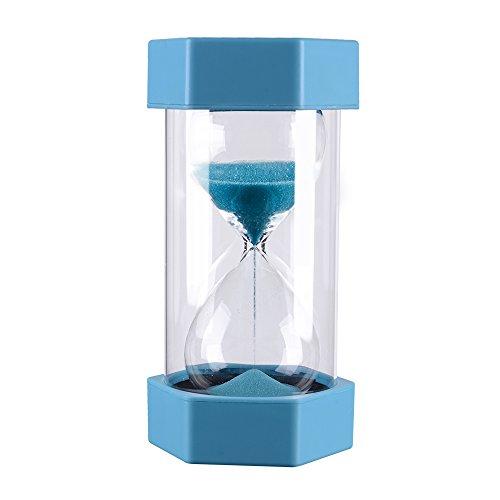 10 Minutes Plastic Gravity Sandglass Hourglass Visual Timer Precise Sand Clock - Durable Blue Sand Timer