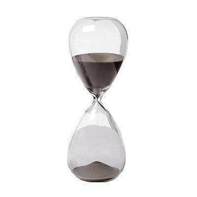 30 Min Hourglass Sand Timer Black 8