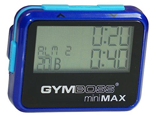 Gymboss miniMAX Interval Timer and Stopwatch - BLUEBLUE METALLIC GLOSS