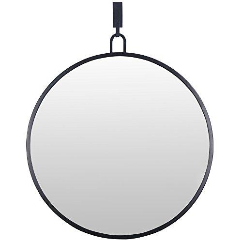 Varaluz Casa 407A01BL Round Stopwatch Mirror - Black