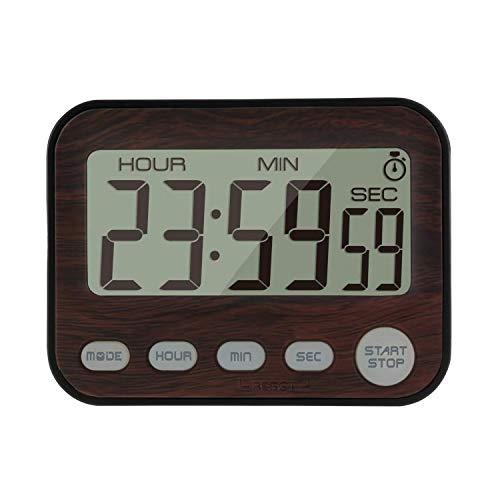 Jayron Digital Timer Alarm Clock kitchen timer cooking timer Countdown and count up timer walnut