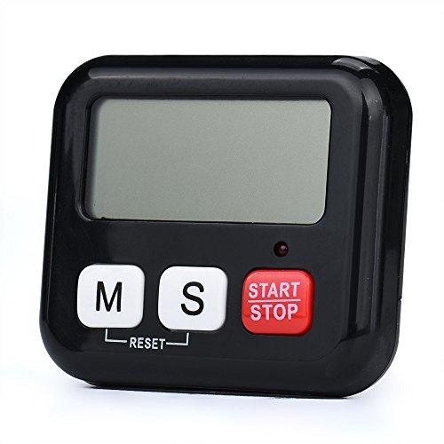 Wensltd Digital Kitchen Cooking Timer Portable Digital Countdown Timer Clock for Kitchen Cook Black