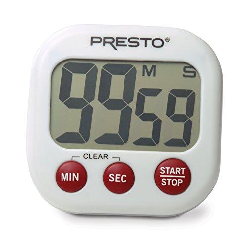 Presto 04214 Electronic Big Digital Timer White