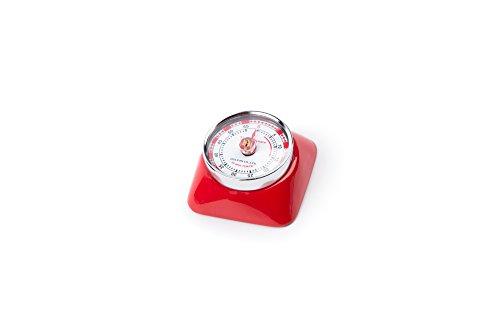 Fox Run 4271 Magnetic Square Retro Timer Red