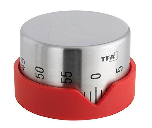 TFA Dot Kitchen Timer Red