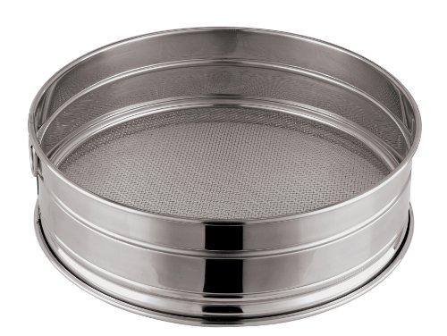 Paderno World Cuisine 8-58-Inch Stainless-Steel Fine Mesh Flour Sieve
