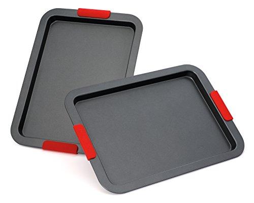 Elite Bakeware Nonstick Baking Pans Set - Baking Sheets - Cookie Sheets - Sheet Pans