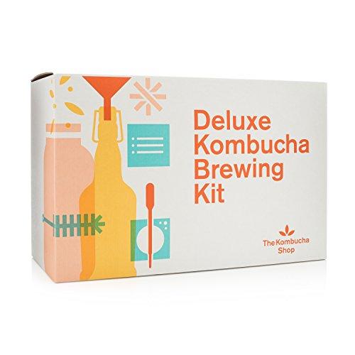 Deluxe Kombucha Brewing Kit - Six Swing Top Bottles Stainless Steel Funnel Custom Bottle Brush Our Original Brewing Kit