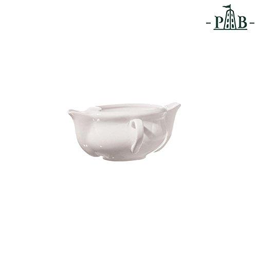 La Porcellana Bianca Italian White Porcelain Split Gravy Boat Jug Fat Separator