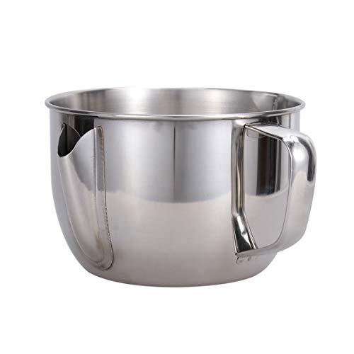 UPKOCH Fat Separator Measuring Cup Bowl Stainless Steel Fat Stopper Oil Gravy Separator Strainer for Kitchen Home