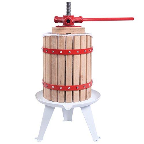 Costzon 16 Gallon Fruit Wine Press Cider Apple Grape Crusher Juice Maker Tool Wood