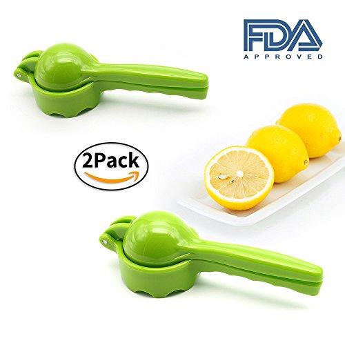 2 Packs Lemon Lime Squeezer - Manual Citrus Press Juicer FDA Approved Green