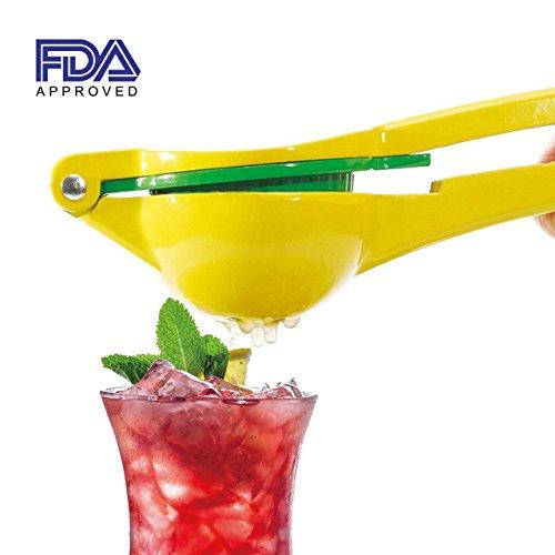 Kiartten Manual Citrus Press Juicer Top Rated Premium Quality Metal Lemon Lime Squeezer-FDA Approved