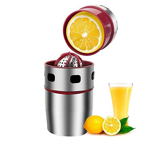 Pawaca Stainless Steel Manual JuicerLemon SqueezerHome Use Manual Juicer for OrangesLemons Citrus FruitFast Easy and Clean to Get Original Healthy Juice