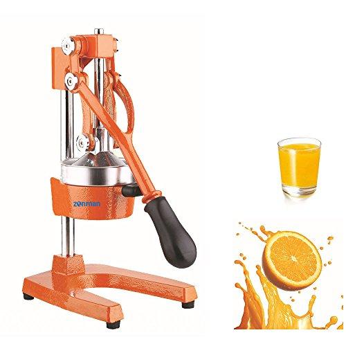 Zonman Juice Extractor Manual Hand Crank Press Stainless Steel Home Use Citrus Juicer Orange