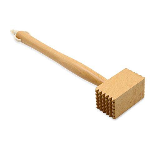 Pandapark Wood Meat Tenderizer Heavy Duty Hammer Mallet Tool Chicken Pounder Beech