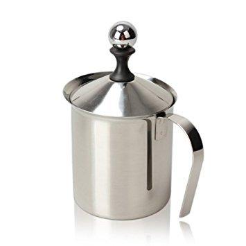 Vktech 800ML Stainless Steel Double Mesh Milk Frother Milk Foamer Milk Creamer 800ml27oz