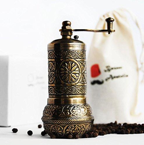Bazaar Anatolia Turkish Handmade Grinder Spice Grinder Salt Grinder Pepper Mill 42 3-Antique Gold