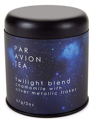 Par Avion Tea   Glitter Tea - Twilight Blend - Small Batch Loose Leaf Chamomile Tea With Edible Silver Metallic Flakes - 2 oz